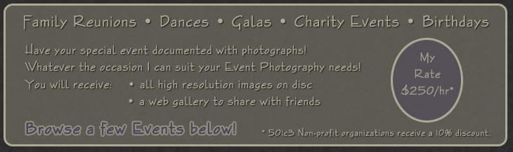 Event Photography Pricing info