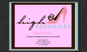 Web Page by Tiffany Richards for High Heeled Shoes in Stuart, FL