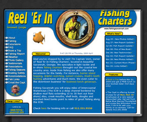 Web Design by Tiffany Richards for Reel Er In Fishing Charters in Savannah, GA