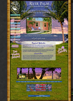 Web Design & Photography by Tiffany Richards for River Palm Cottages & Fish Camp, Jensen Beach, FL